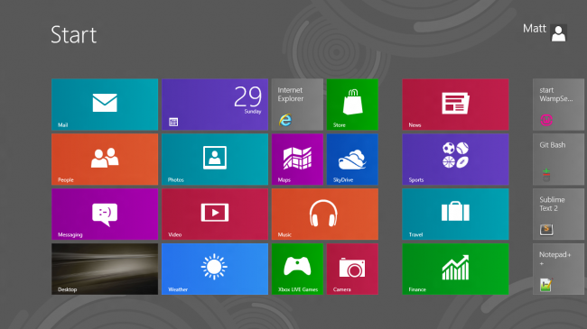 Windows 8 New Start Menu